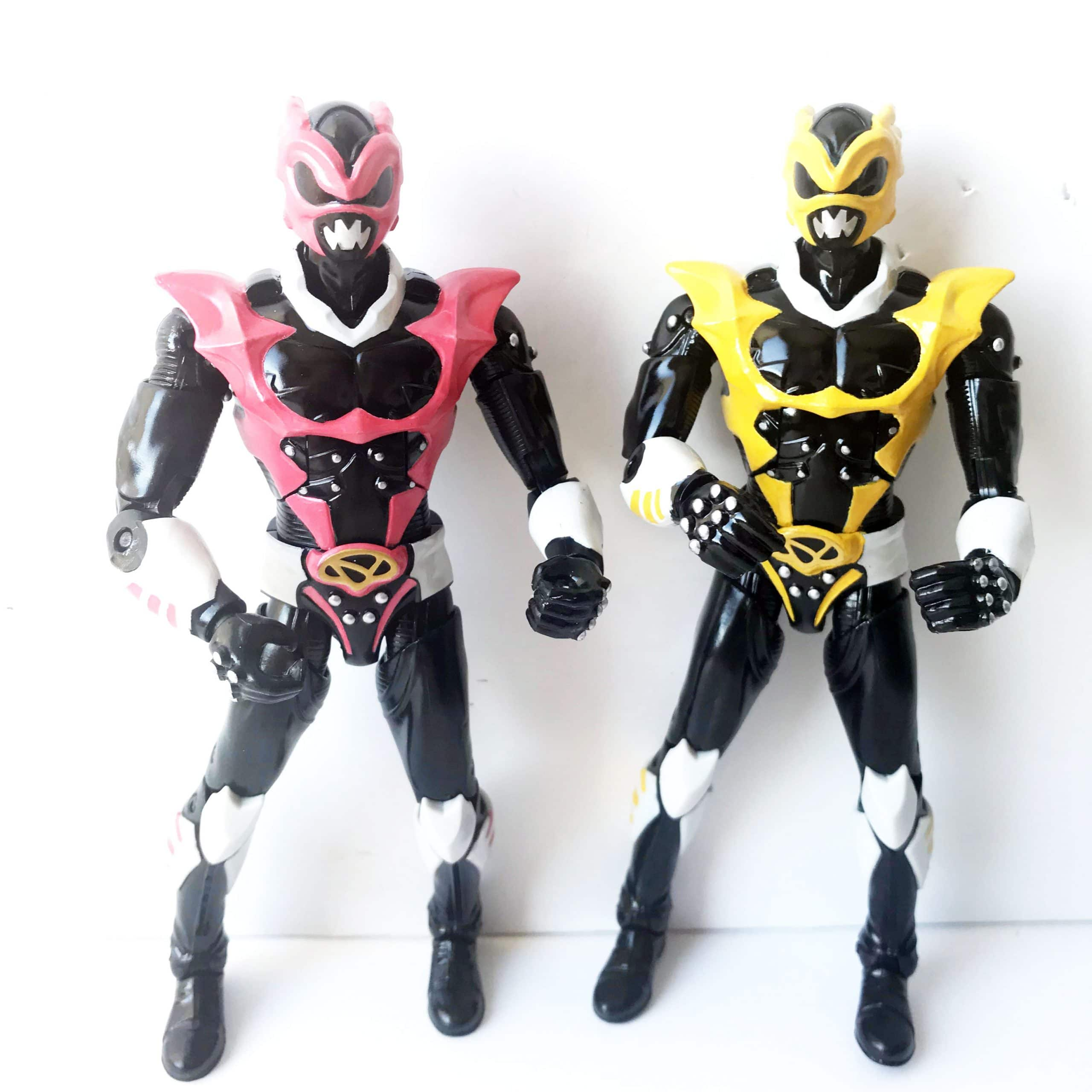 Psycho Ranger Pink Yellow Rangers Remorphed
